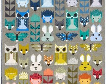 Monochromatic Fancy Forest Quilt Kit by Elizabeth Hartman