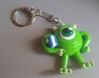Bob rasoski monsters and company in polymer clay keychain