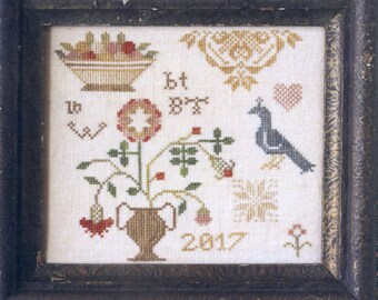 A Little Quaker by Heartstring Samplery Counted Cross Stitch Pattern/Chart