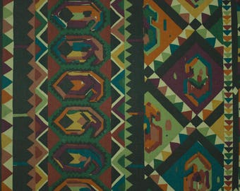 vintage 1980s Kasbah Collier Campbell geometric print cotton interiors fabric 2