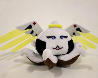 Overwatch Mercy Inspired Pachimari Plush handmade Mercy cosplay