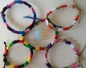 Color Hemp Bracelets