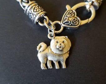 Silver Heart Assorted Dog Charm Bracelet Shih Tzu Chow Beagle Afghan Hound Westie Boston Terrier Bulldog