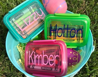 Personalized Travelling Crayon Boxes