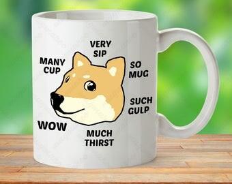 Funny doge mug internet meme shibe doge wow coffee plz doge meme mug shibe mug gift meme gift cup internet meme mug solutioingenieria Choice Image
