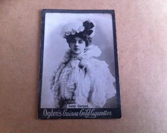 OGDENS GUINEA GOLD Rare Lucy Gerard 1900s cigarette cards