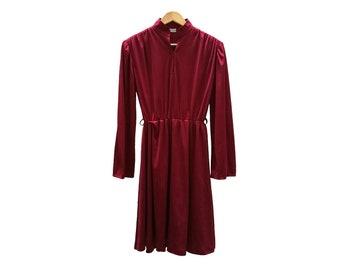 Vintage dress//vintage clothing/1970s/1980s/gift for woman/red/70s/medium/dress for women/vintage Dress