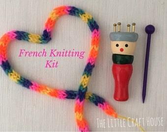 French Knitting Doll Kit // Knitting Nancy //  Craft Kit // Spool Knitting // DIY