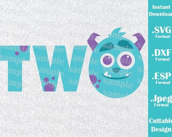 INSTANT DOWNLOAD SVG Disney Inspired Baby Sulley Two Monster Inc.  for Cutting Machines Svg, Esp, Dxf and Jpeg Format Cricut Silhouette