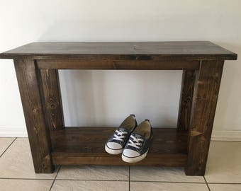 Entrance Bench, Rustic Bench, Rustic Wooden Bench, Mudroom Bench