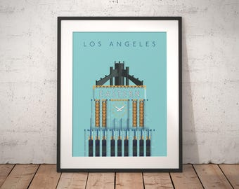 Eastern Columbia Building Los Angeles Art Deco Architecture Poster Art Print