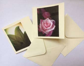 Mini floral notecards - 2 in pack.
