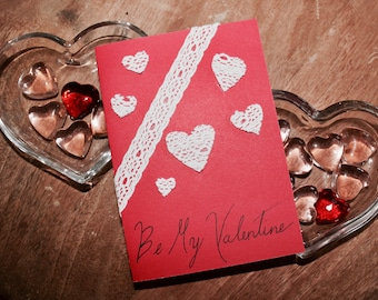 Handmade Be My Valentine Card