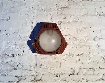 Vintage industrial cast iron wall light - vintage glass wall lamp - industrial lighting - factory lighting - loft wall light - vintiques