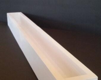 18 inch window sill planter- classic white