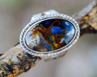 Rare petersite custom ring s.s.