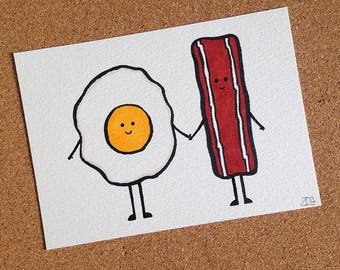 Bacon & Egg Sketch Card