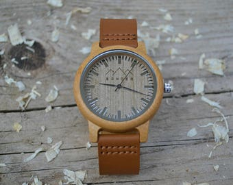 Caramel & Coffee Wood Watch by SONDER - Mens Wooden watch,  Wooden watches for men, Montre Bois, Handcrafted Gents Wood Watch
