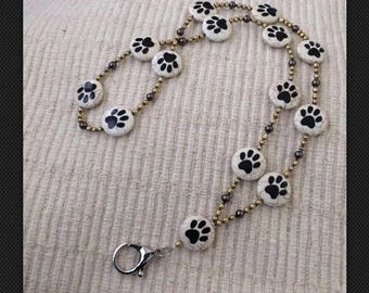 Move Over Rover Dog Themed ID Badge Lanyard-One of A Kind