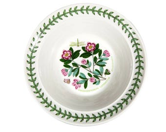 "FREE SHIPPING: Vintage Portmeirion Botanic Garden Cereal Bowl Rhododendron Pattern - 6 1/2"" China Oatmeal Dish"