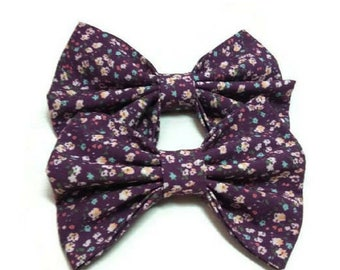 plum floral bow tie , for dog and owner , pet gift ideas , doggy birthday, for Bernese Mountain Dog, Collie, Cane Corso, Akita, Bullmastiff