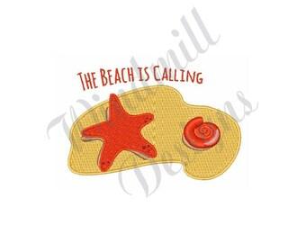 Beach Shell & Starfish - Machine Embroidery Design