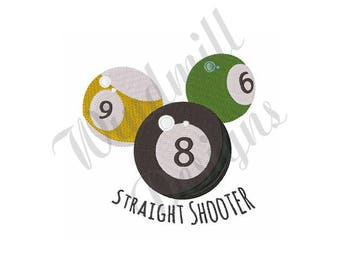 Pool Balls - Machine Embroidery Design