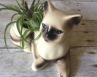 Vintage Siamese Cat Planter