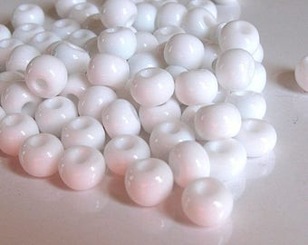 10 g seed beads 8 mm round opaque