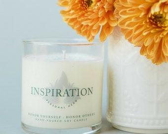 Inspiration Meditation Candle, Math Teacher Gift, Inspirational Soy Candles Handmade, Mentor Gift, College Student Gift, Nursing Student