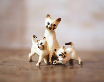 1970's Siamese Kitten Ornaments