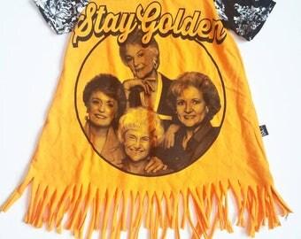 Stay golden fringe dress
