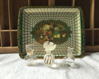 Vintage Daher Decorated Ware Metal Rectangular Serving Tray (Made IN England)