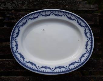 Antique Cetem Ware Empire Meat Platter 519757