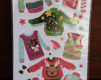 EK Success - Sticko Holiday Stickers - Ugly Sweaters