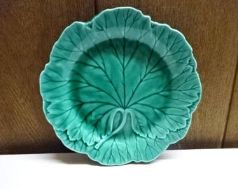 Wedgwood Green Majolica Plate/Small/Pottery/Collectable/Vintage/1950s