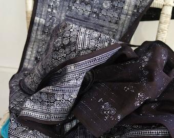 Indigo on cotton vintage batik