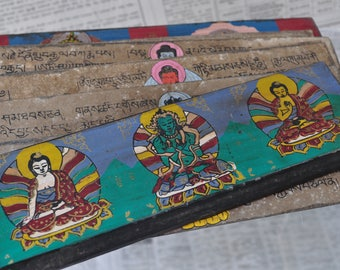 Tibetan prayer wooden - book CC071