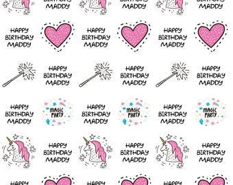 Personalized Magical Unicorn Wrapping Paper