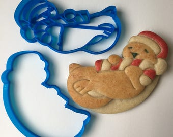 Otter with Candy Cane Cookie Cutter Set