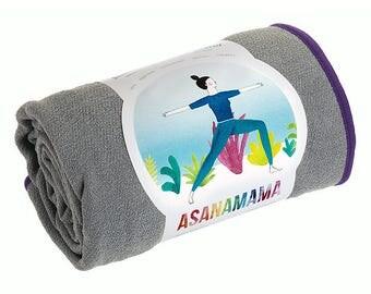 Deep grey yoga towel