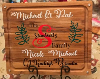 Personalized Family Monogram Cutting Board