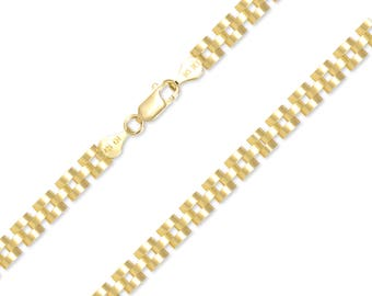 "10K Solid Yellow Gold Rolex Necklace Chain 5.0mm 18-30"" - Watch Band Link"