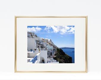 Santorini, GREECE Sea Cliff Photo / INSTANT DOWNLOAD / Printable / mediterranean digital print, poster, art wall decor, instagram / 5 sizes