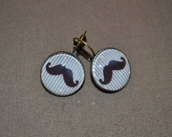 Earrings retro new mustaches