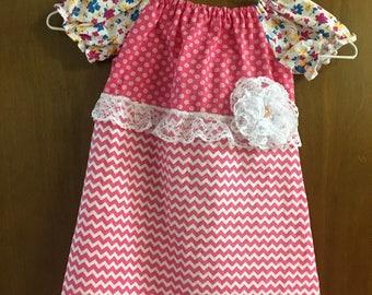 PEASANT DRESS- size 12/18 months