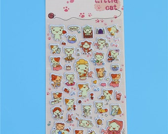 Embossed stickers Little cat with assorted designs
