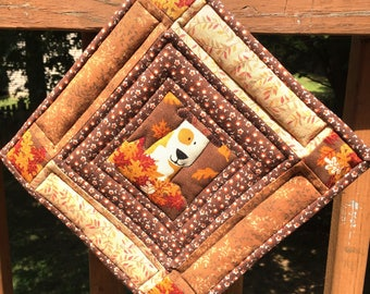 Playful Pup Quilted Pot Holder