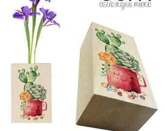 Custom Samba wood vase