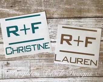 R+F/Rodan and Fields Decal/R and F Decal/Personalized Rodan Fields Decal/Yeti Decal/Tumbler Decal/Car Decal/Mug Decal/R + F Swag/R+F Sticker